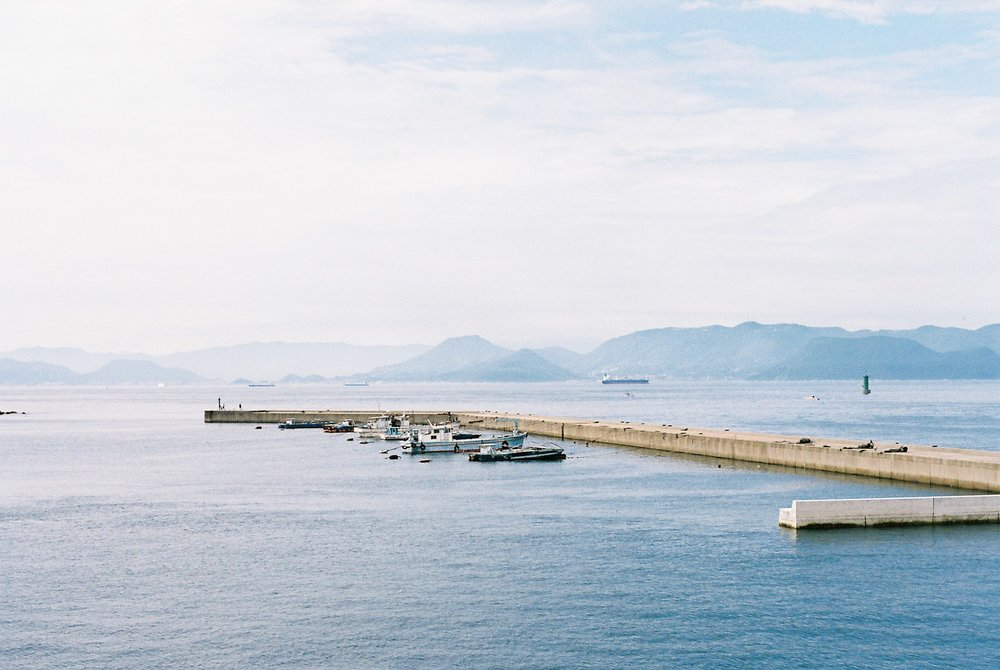Stunning views from the ferry of the Seto Inland Sea.  Shot on 35mm Portra 400 film.