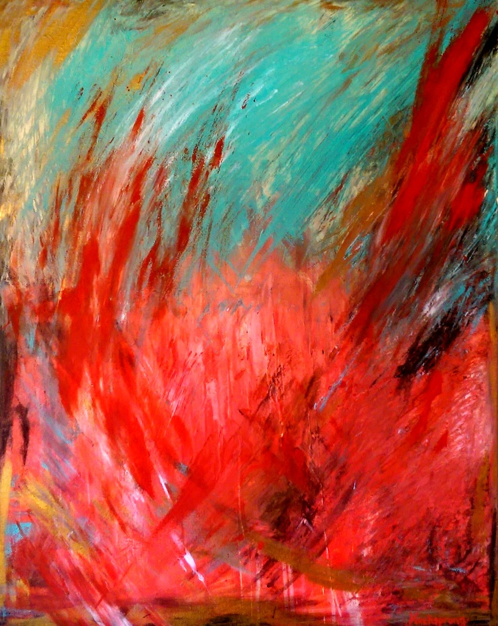 World on Fire, 2015 by Gina Hochsprung.jpg