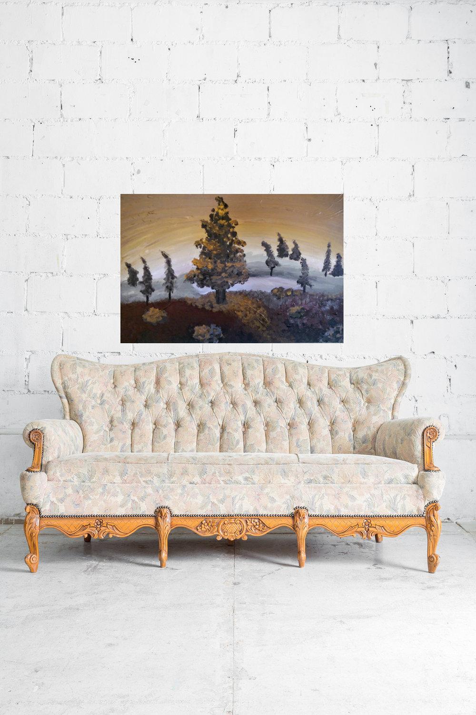 baked alaska vintage sofa white brick wall.jpg