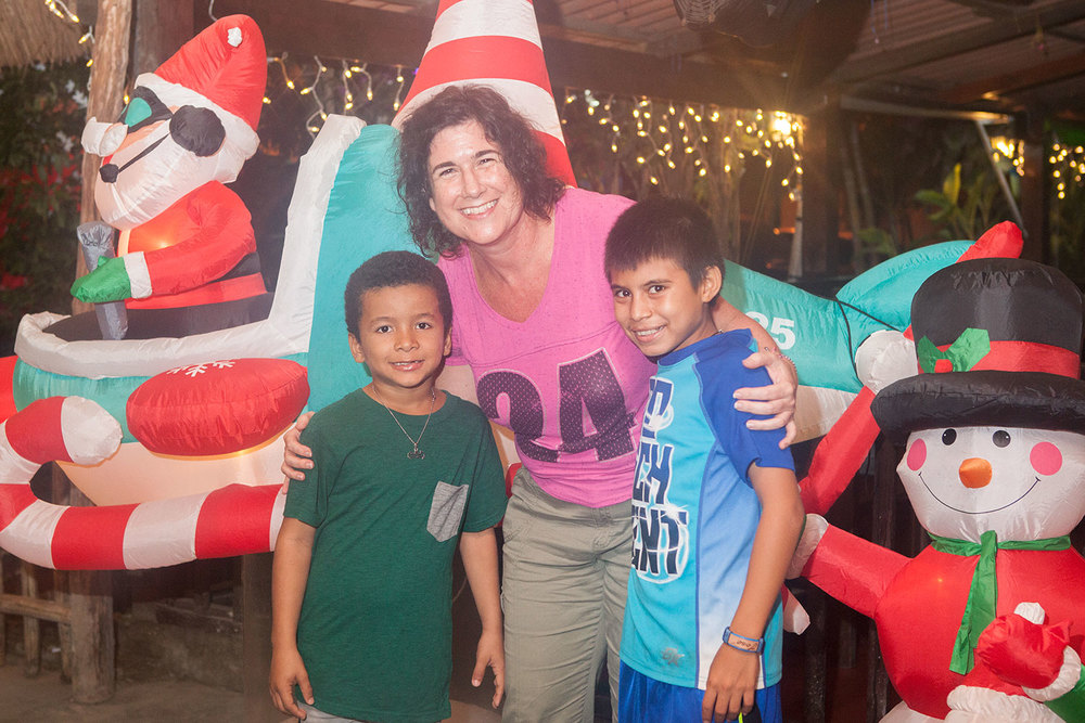 """Luisito, AnneMarie, and Jose. These two boys love their """"AnnaMaria""""!"""