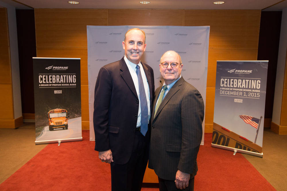 CleanFUEL USA founder, Curtis Donaldson with Propane Education & Research Council president and CEO Roy Willis.