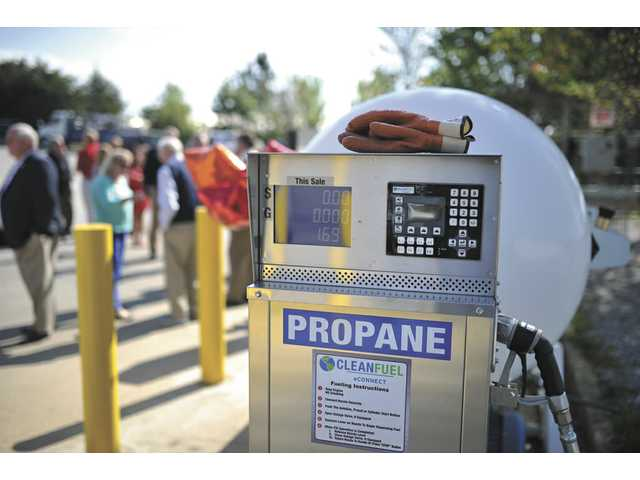 The first public propane fueling station in Gainesville opens Thursday morning at the Pacific Pride on Monroe Drive. Georgia Public Service Commissioner Tim Echols pumped the inaugural first tank of autogas.