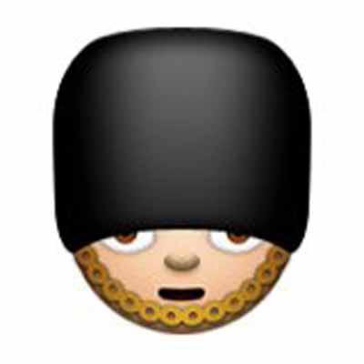 """Troyes liebstes Emoji """"Es ist ein bisschen peinlich: Ich dachte, das ist ein Mann mit Kapuze, der sich schämt. Alle müssen das jetzt verstehen, wir tun einfach so, als sei das nicht der Typ vom Buckingham Palace."""""""