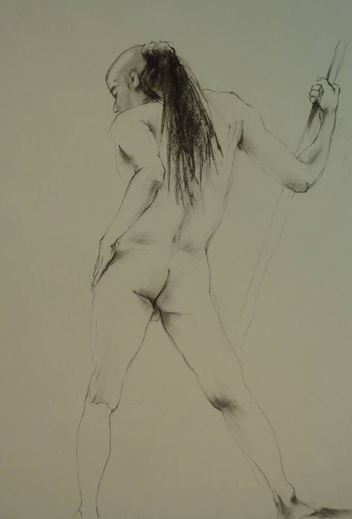 Eric Saint Georges | Hunting | Charcoal Pencil