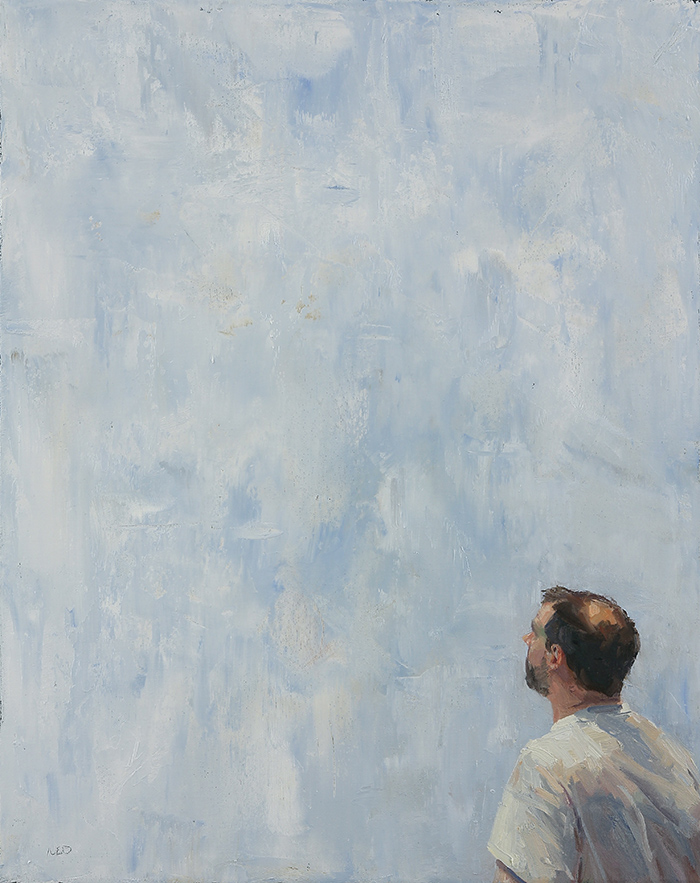 Ned Axthelm | Looking | Oil on Canvas