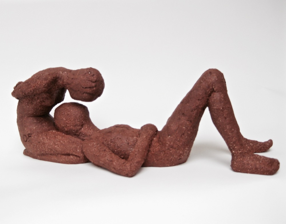 "SECOND PLACE  - Danielle Fafchamps, ""Croquis of Love #2"" (high fire clay) $425"
