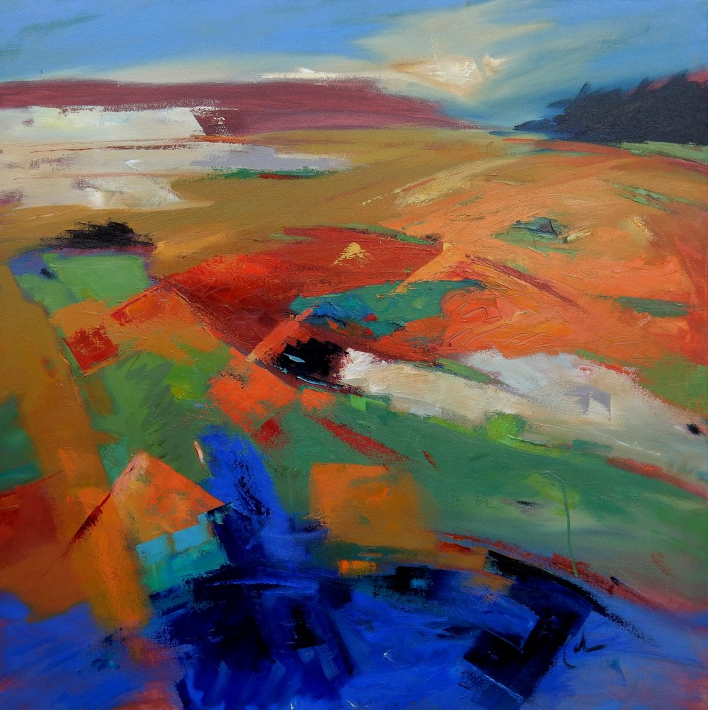 FIRST PLACE - Landforms, Suggestion of Place (2015) | Gary Coleman | Oil on canvas | 36x36"