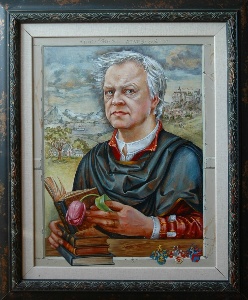 THIRD PLACE - Christoph of Köln (2012) | From the series Portraits | Tanya Larin | Oil on board | 16x20"