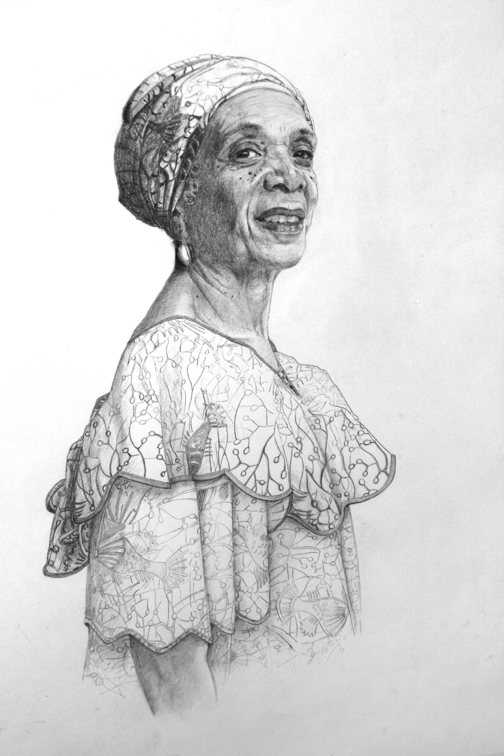 HONORABLE MENTION - Omonike (2016) | Cherryl Pape | Graphite on paper | 24x30"