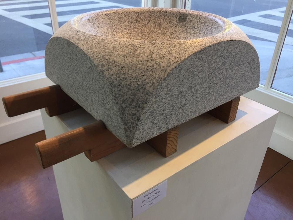 Ken Matsumoto | Usu, Sierra White | Granite with Redwood Handles | $3,000