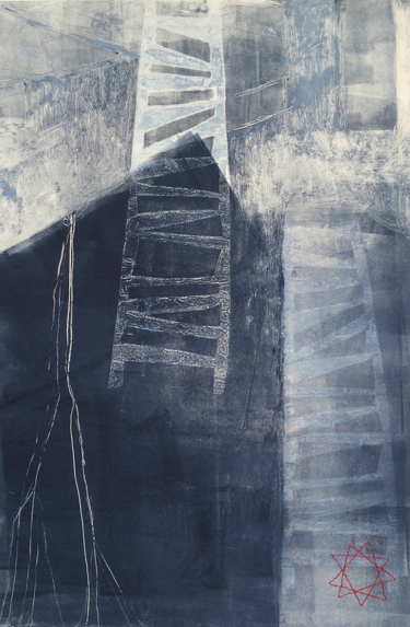 HONORABLE MENTION  - Ginger Tolonen | Ascending III |  22x15 | Monotype on rives moulin due gue