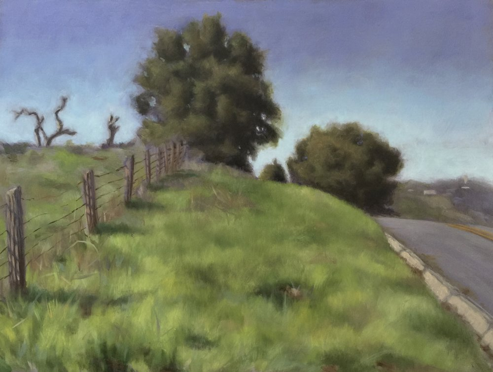 HONORABLE MENTION  - Maura Carta | Lawler Ranch Road | Oil on wood panel