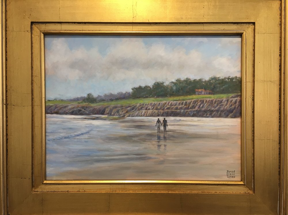 HONORABLE MENTION - Jarred Sines | Walking on Ocean Beach | Oil on Canvas