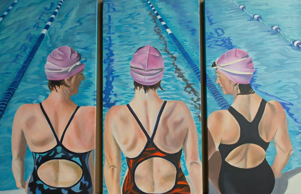 "HONORABLE MENTION  - Gisele Boriolo | ""Swimmers"" (Triptych) 