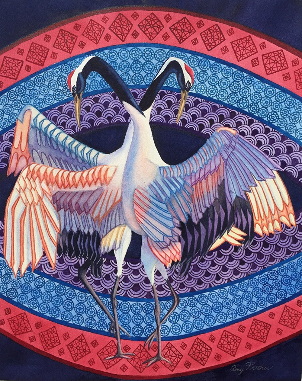 "THIRD PLACE  - Amy Rattner | ""Dancing Cranes"" 