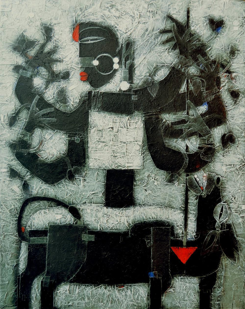 Goddess Durga - Feminine Energy, Mixed media on canvas, 60 x 48