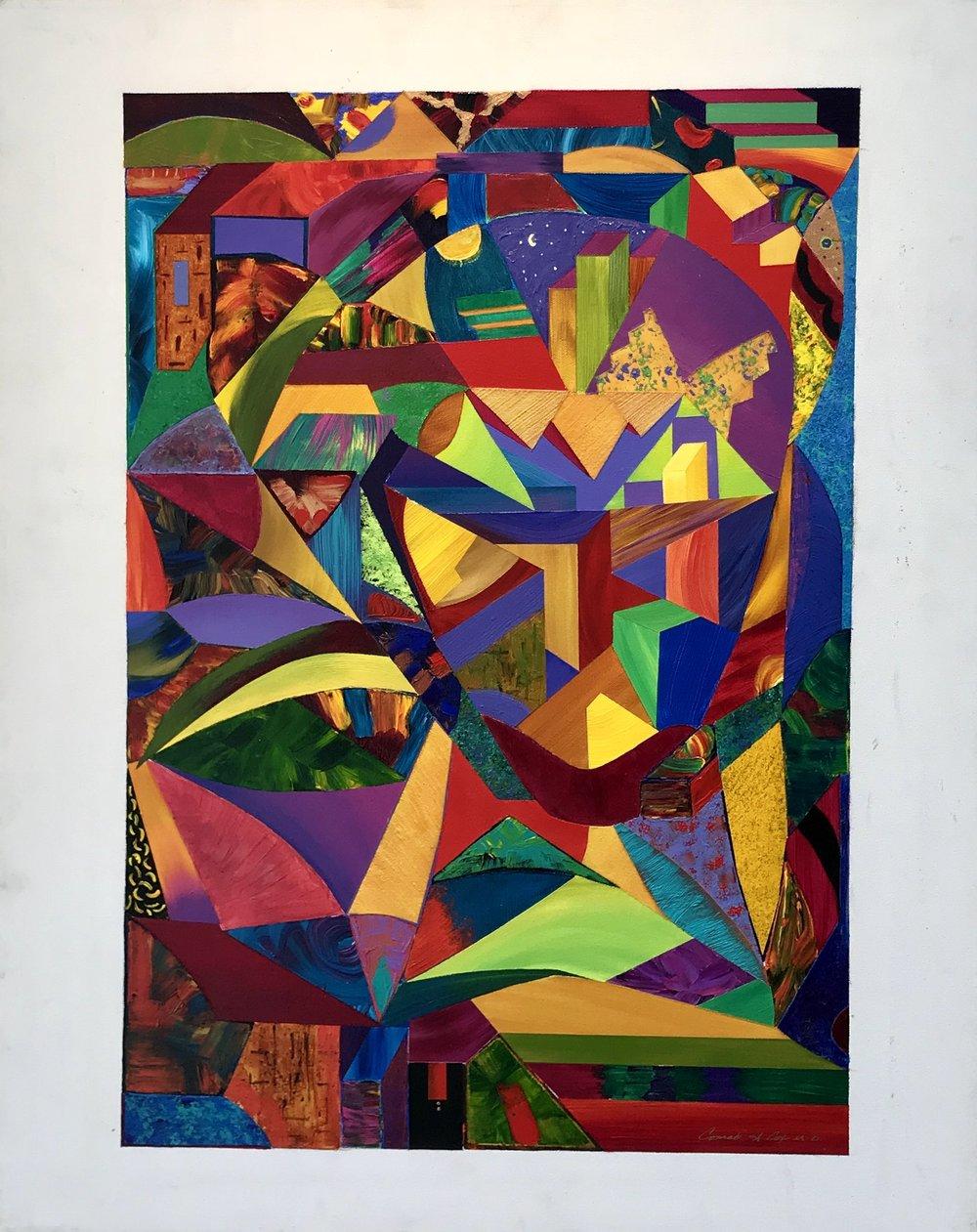 FIRST PLACE  - Conrad A. Cox |La Face |Acrylic