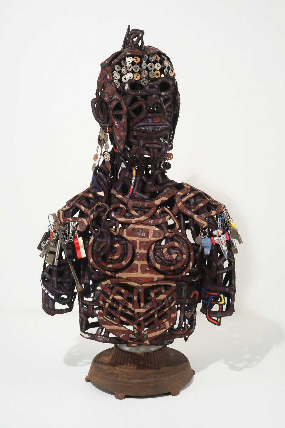 THIRD PLACE  - Tina Maier | Sentinel | Textiles sculpture with found objects