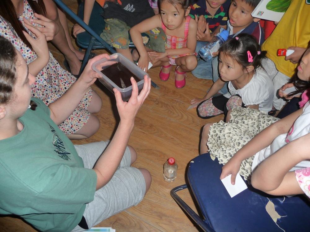 Elyssa Ranck sharing with kids at VBS in 2012