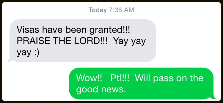 Received the above text from Linda Davis this morning!