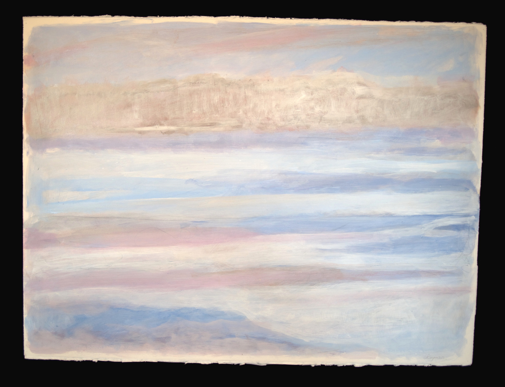Horizons #9  acrylic on paper 22in x 30in