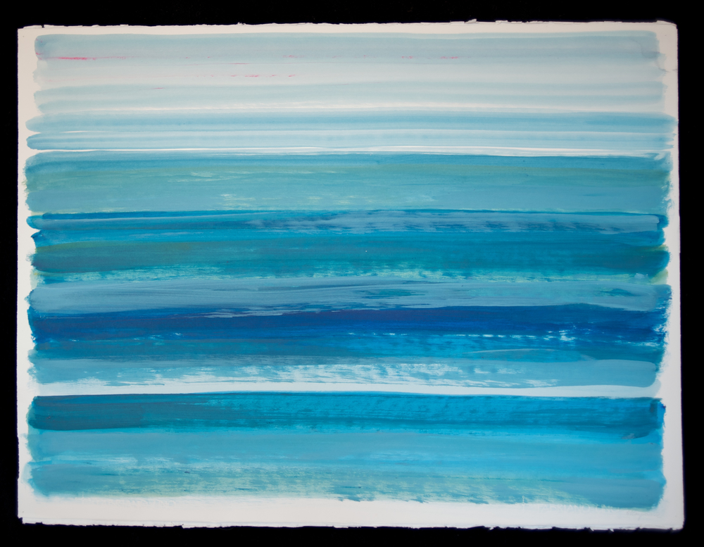 Horizons # 11  acrylic on paper 22in x 30in