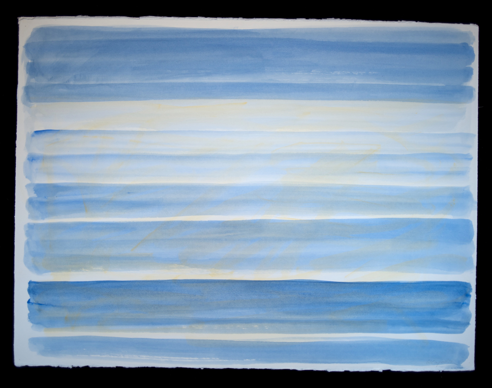 Horizons #12  acrylic on paper 22in x 30in