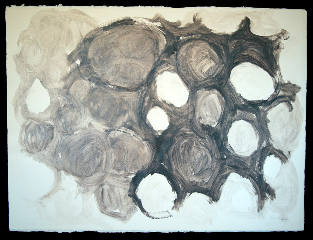 Mandala #18  acrylic on paper 22in x 30in