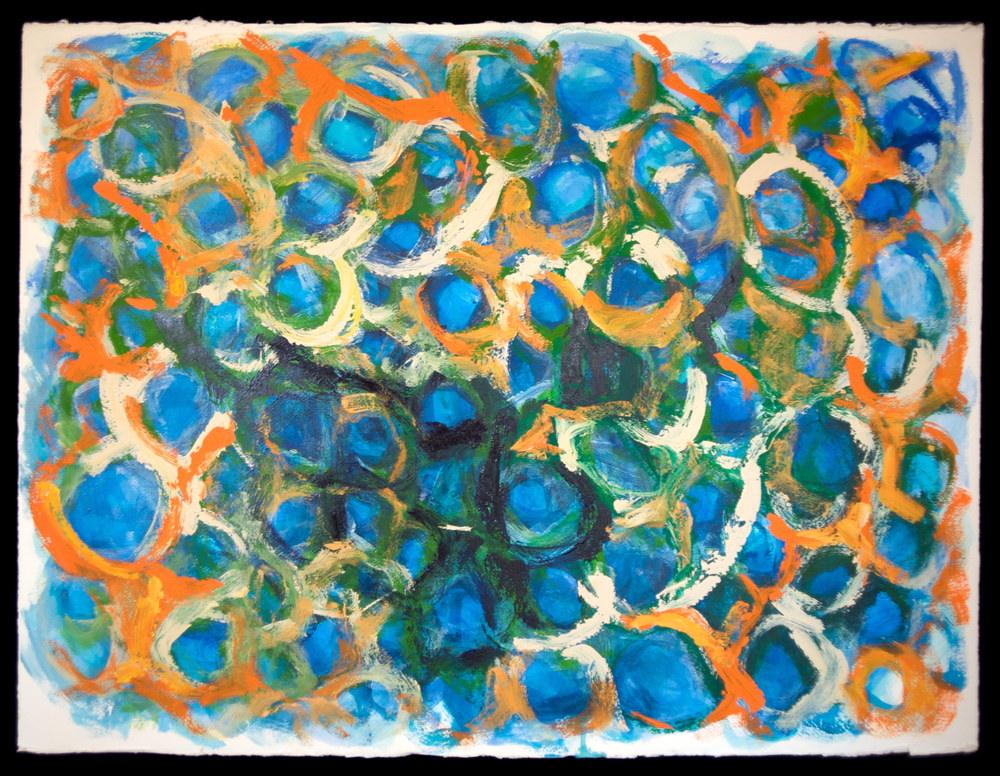 Mandala #21  acrylic on paper 22in x 30in