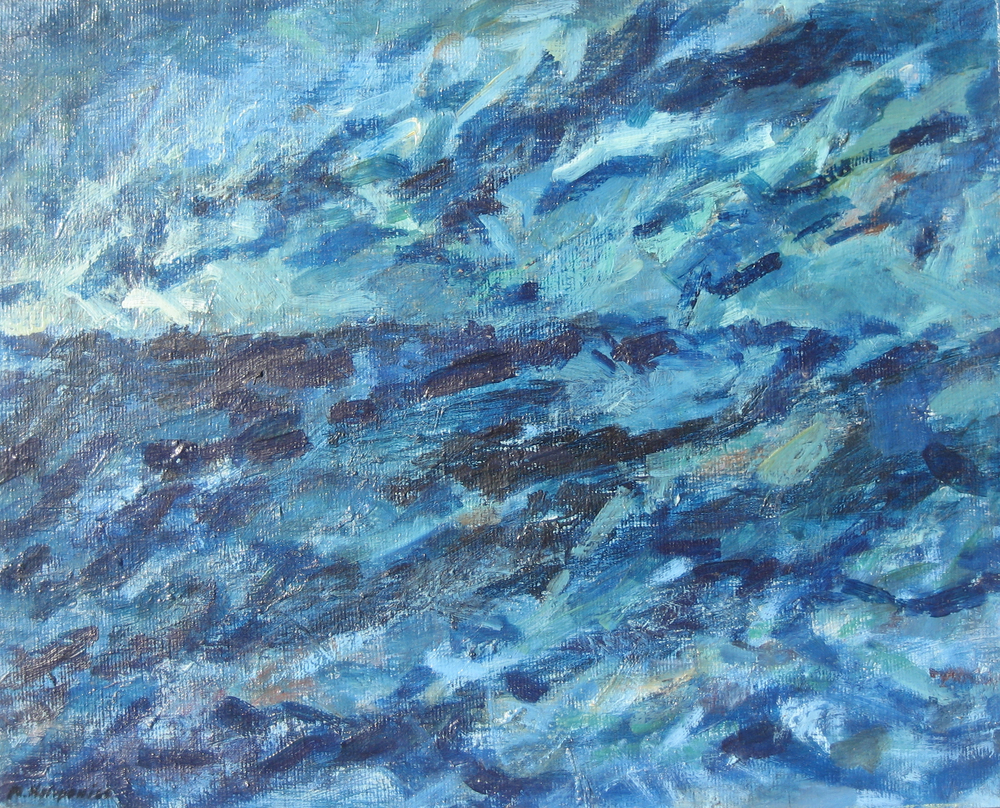 Seascape #6  oil on canvas 18in x 24in