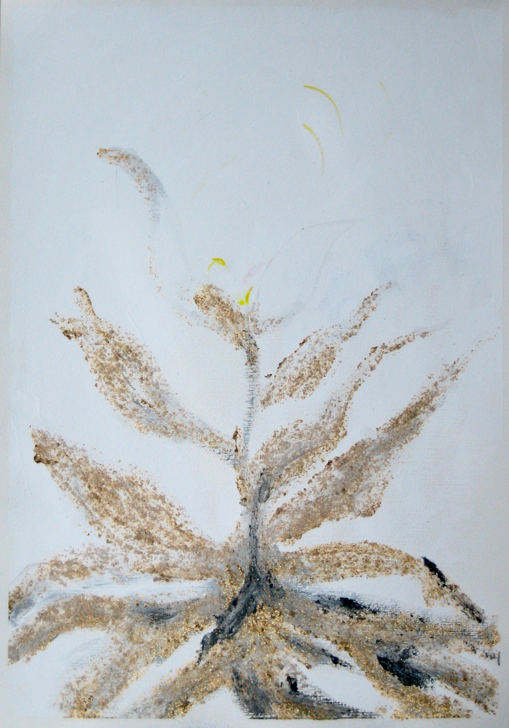 tenth Transformation of Archetypal Plant  acrylic on paper 18in x 24in