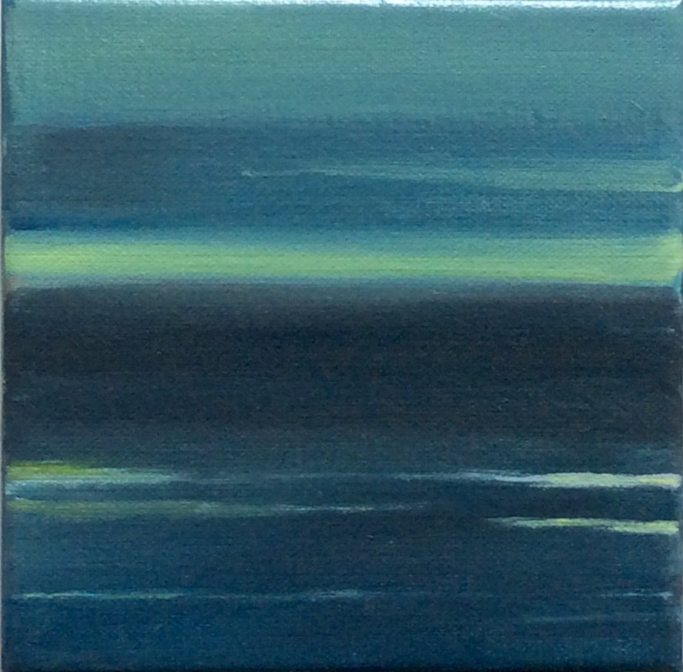 "Transcending Blue # XX  oil on canvas 6""x 6"""