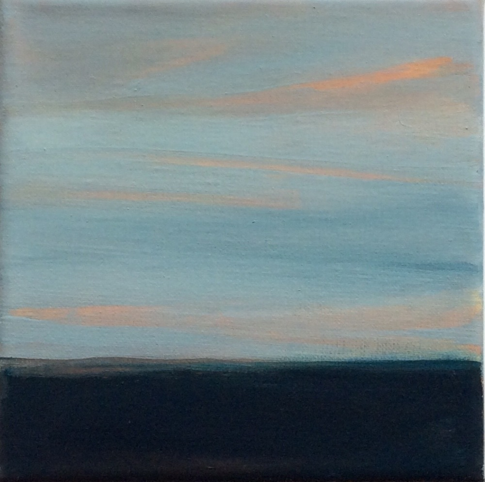 "Transcending Blue # XXI  oil on canvas 6""x 6"""