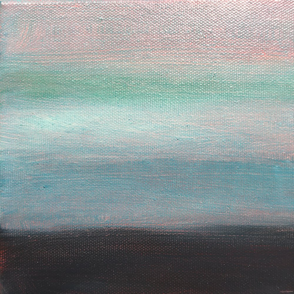 "Open Horizontal Fields # XIII  oil on canvas 6""x 6"""