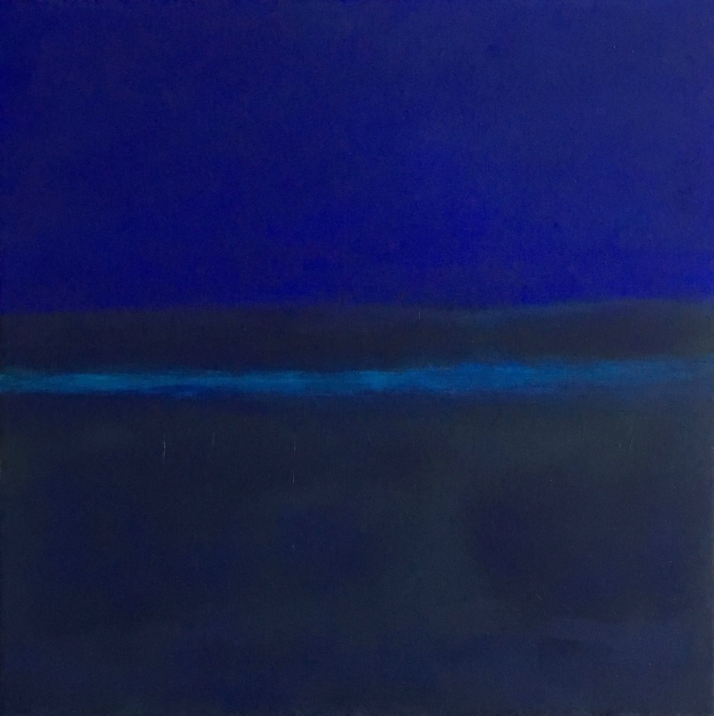 "Blue Nocturne  oil on canvas 24""x 24"" ( 61 x 61 cm ) 2017"