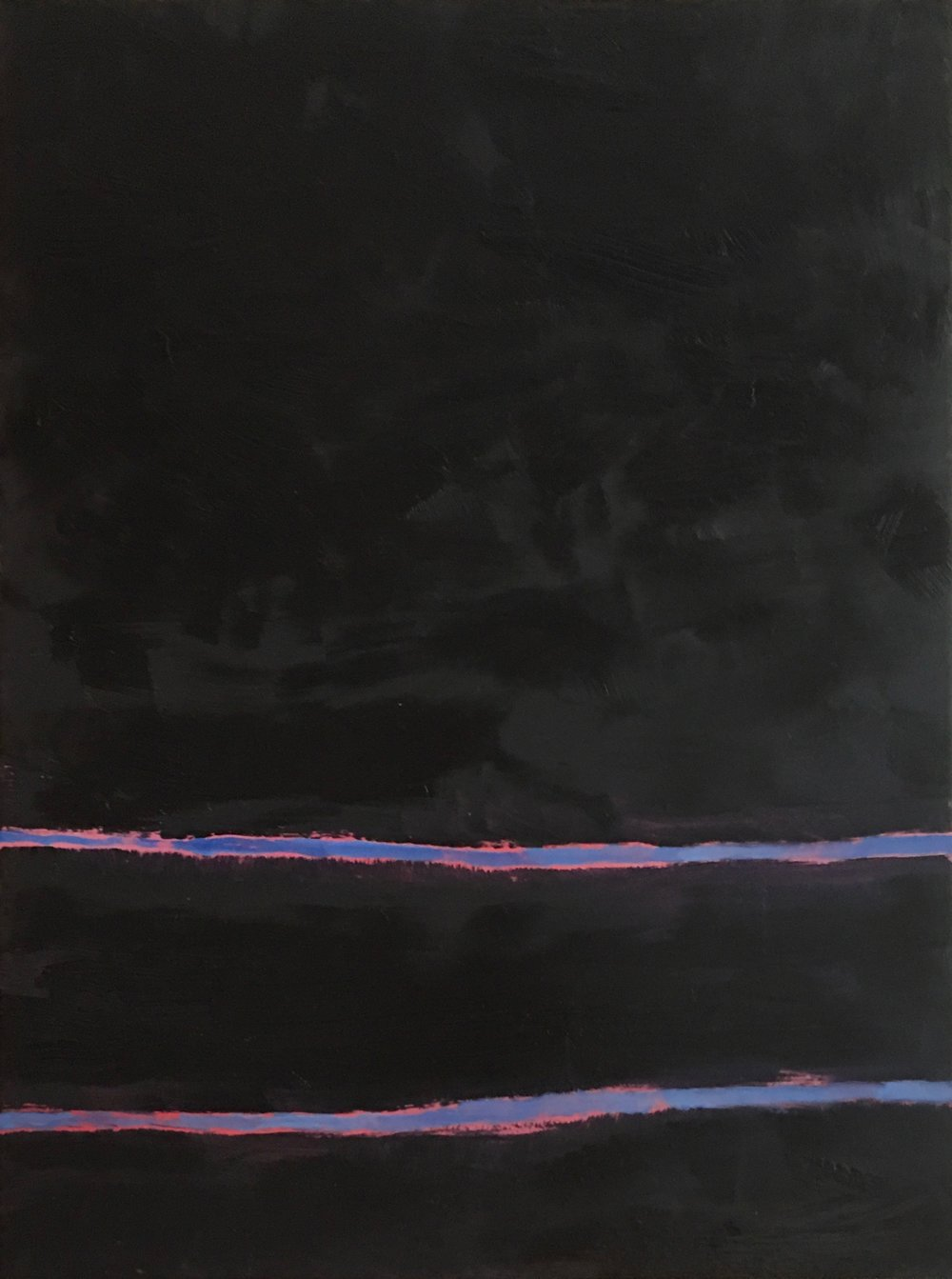 "In- Between # VII  oil on wood panel 16"" x 12"" ( 40.7 x 30.5 cm ) 2017"