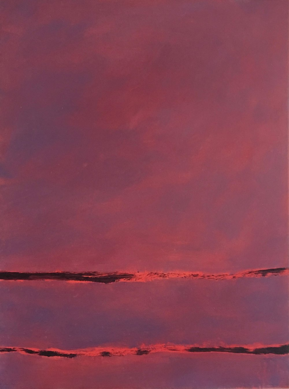 "In- Between # VIII  oil on wood panel 16"" x 12"" ( 40.7 x 30.5 cm ) 2017"