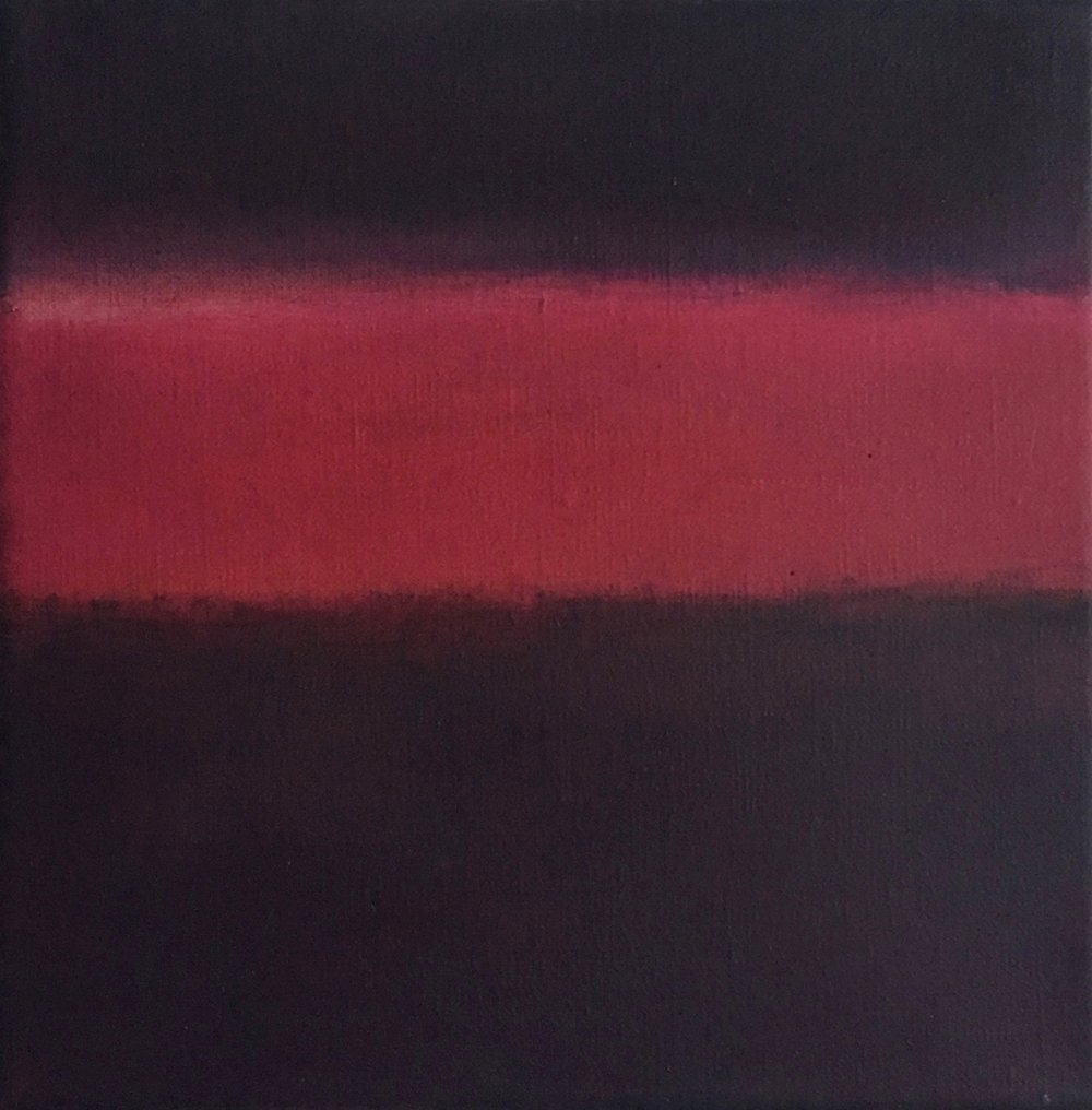 "Inside Darkness III  oil on canvas 8"" x 8"" ( 20.3 x 20.3 cm ) 2017"