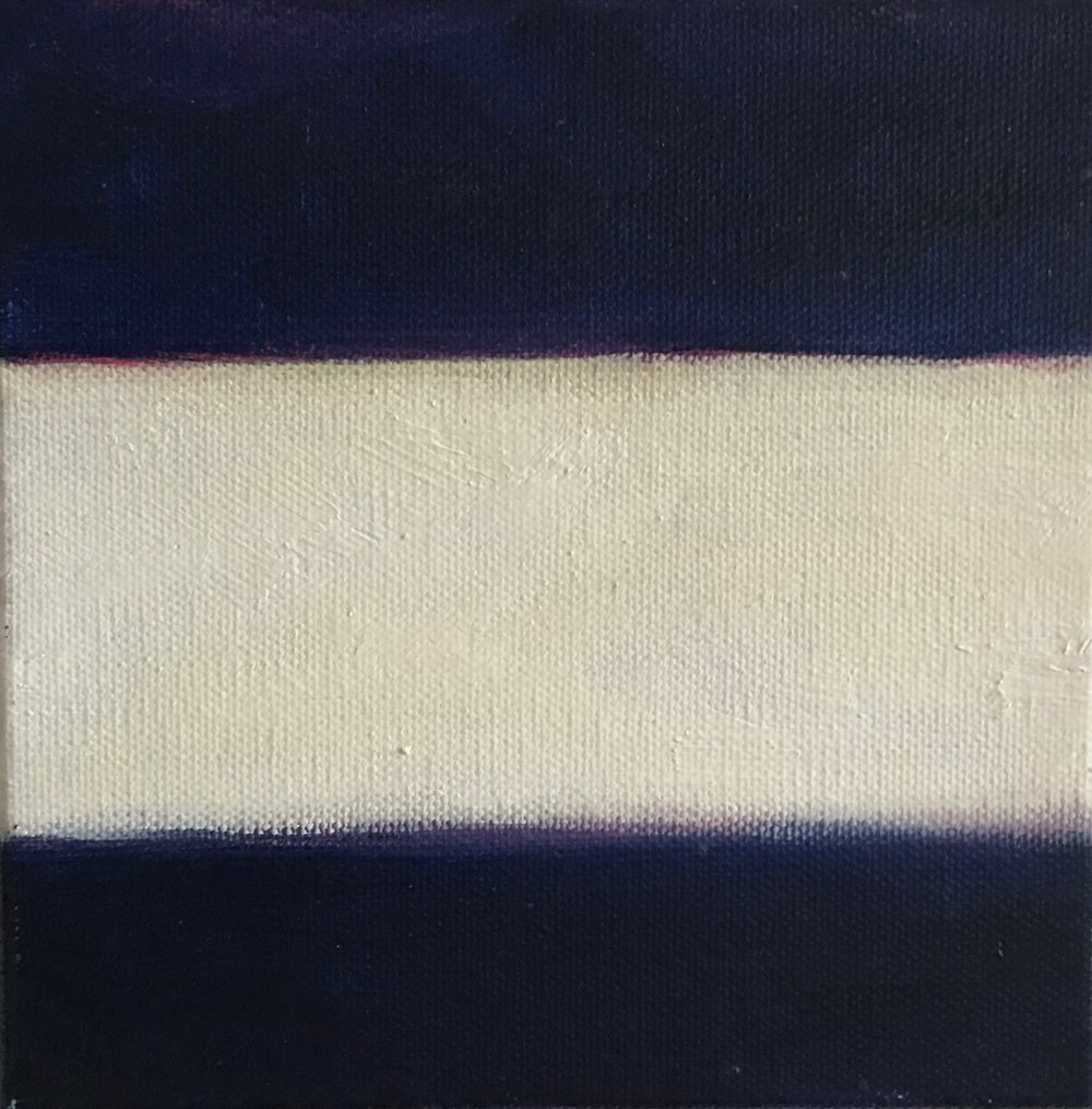 "Open Horizontal XXVI  oil on canvas 6"" x 6"" ( 15.2 x 15.2 cm ) 2017"