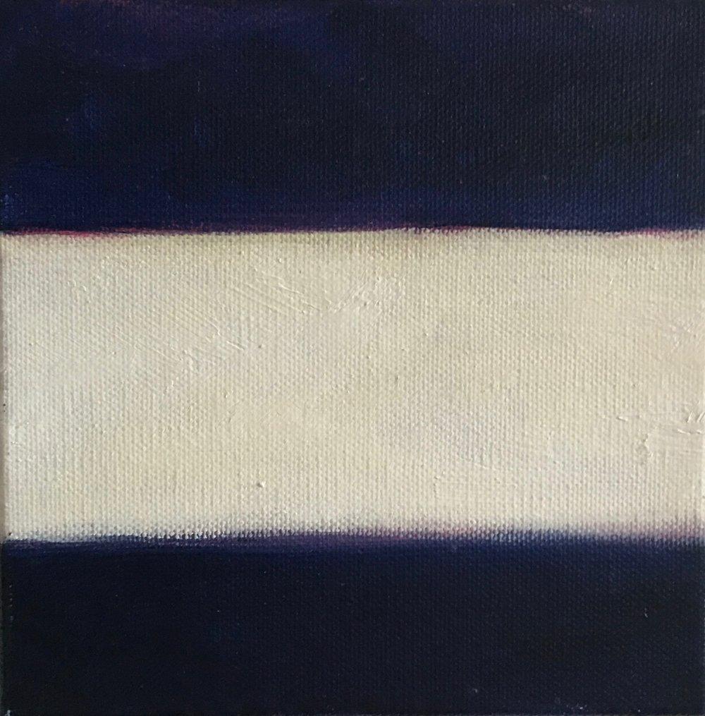 """Open Horizontal XXVI  oil on canvas 6"""" x 6"""" ( 15.2 x 15.2 cm ) 2017"""