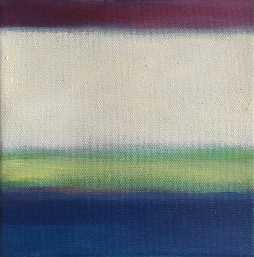 "Open Horizontal XXVIII  oil on canvas 6"" x 6"" ( 15.2 x 15.2 cm ) 2017"