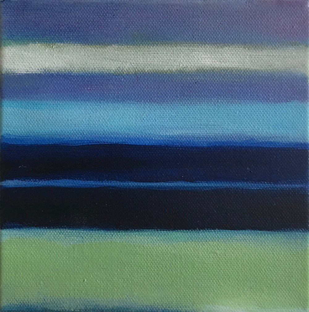 "Open Horizontal Lightness # IV  oil on canvas 6""x 6"""