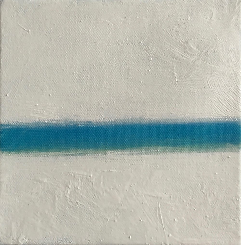 "Resting in Lightness # III  oil on canvas 6""x 6"""