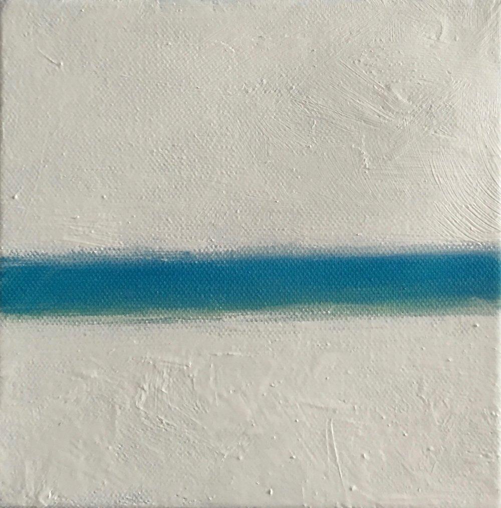 """Open Horizontal XXX  oil on canvas 6"""" x 6"""" ( 15.2 x 15.2 cm ) 2017"""