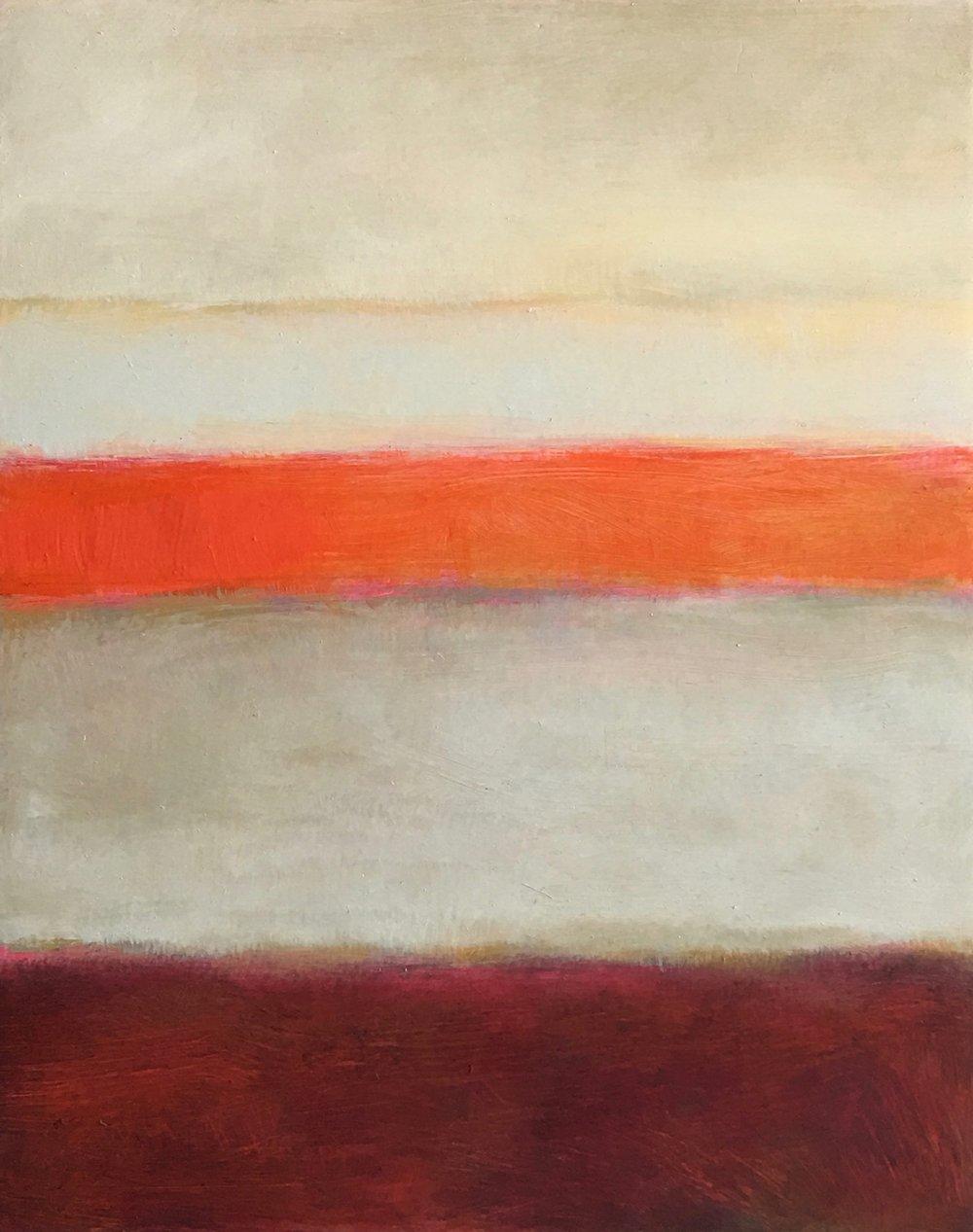 "Open Horizontal # XXV  oil on wood panel 8""x 10"""