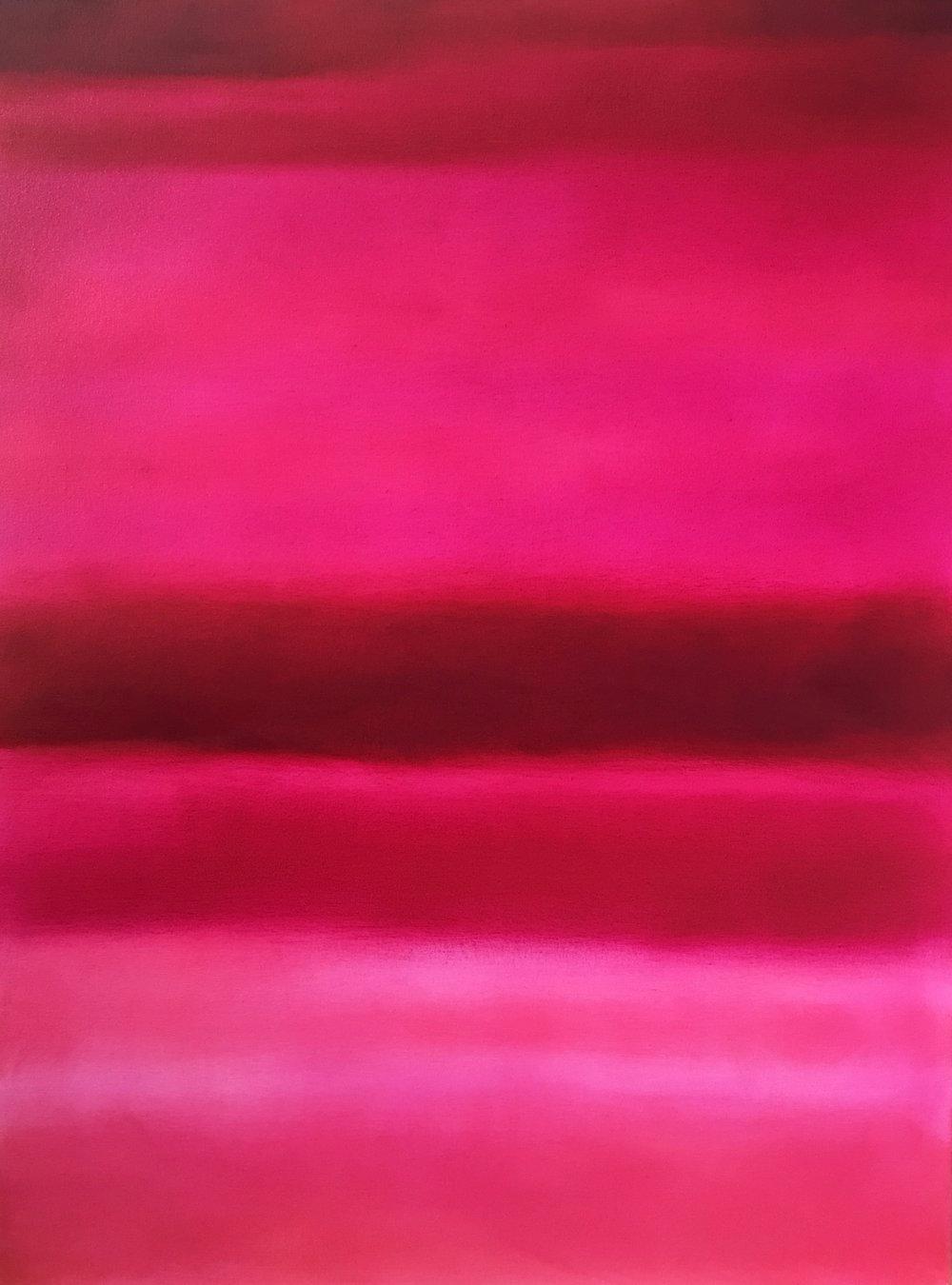 """Open Horizontal XXXVI  oil on canvas 48""""x 36""""( 122 x 91.5 cm ) 2018"""