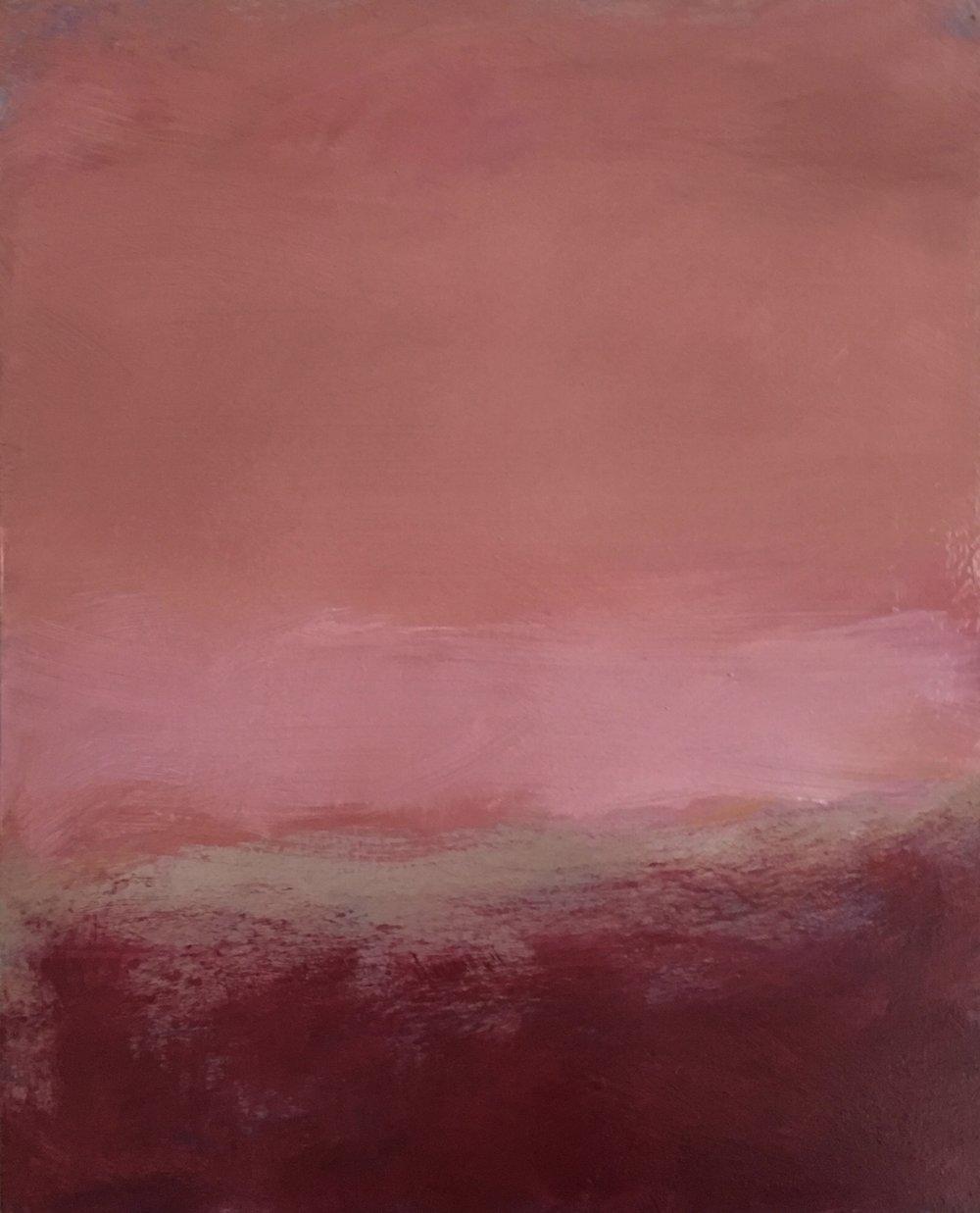 "Open Horizontal # XX  oil on wood panel 10"" x 8"" ( 25.4 x 20.3 cm ) 2018"