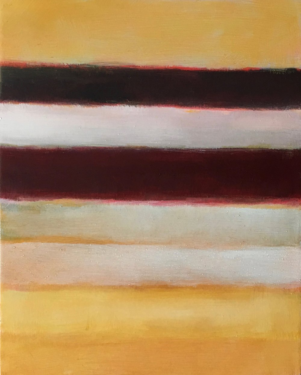 "Open Horizontal  XXIV oil on wood panel 10"" x 8"" ( 25.4 x 20.3 cm ) 2018"