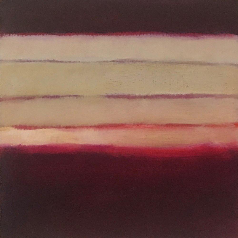 "Nocturne XVIII  oil on wood panel 8""x 8"" ( 20.3 x 20.3 cm) 2018"