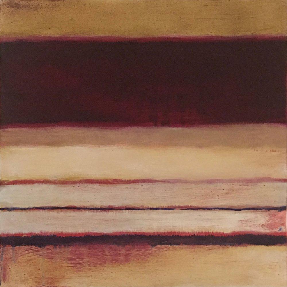"Nocturne XXI  oil on wood panel 10""x 10"" ( 25.4 x 25.4 cm) 2018"
